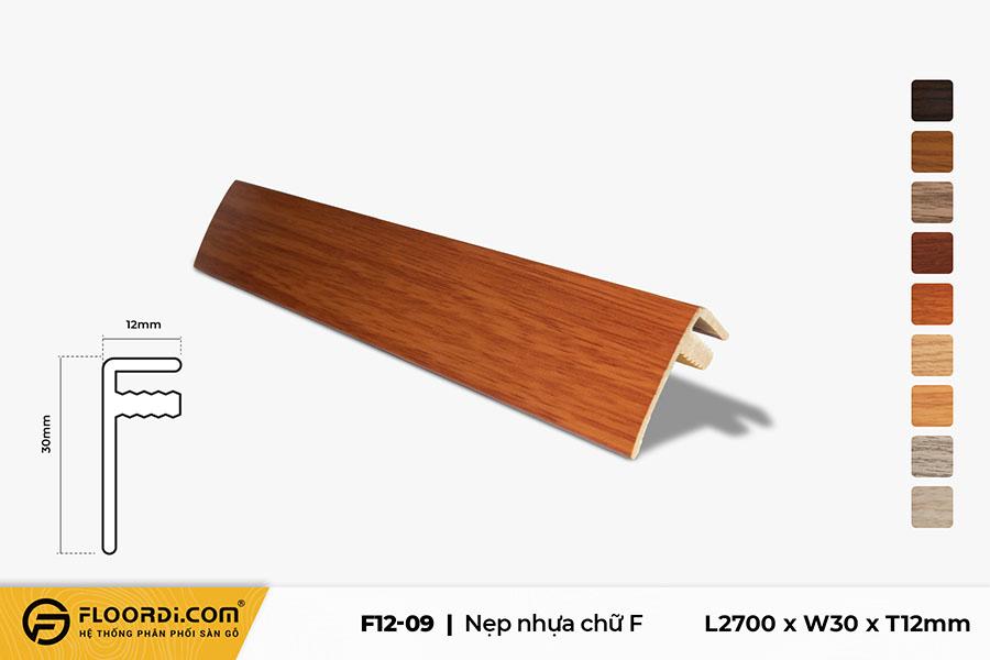 Nẹp chữ F – F12-09 – Red Brown – 12mm