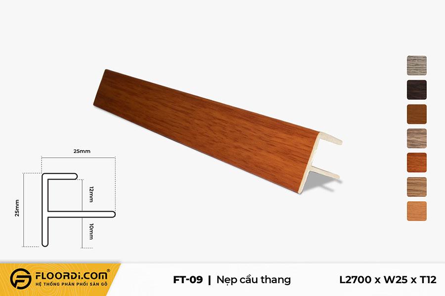 Nẹp chữ F – FT-09 – Red Brown – 12mm