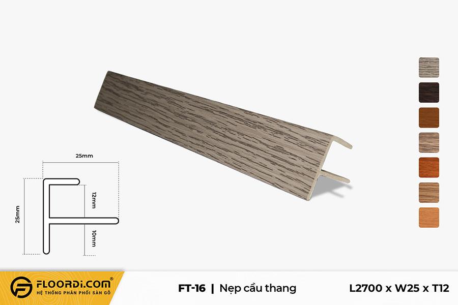 Nẹp chữ F – FT-16 – Gray Brown – 12mm