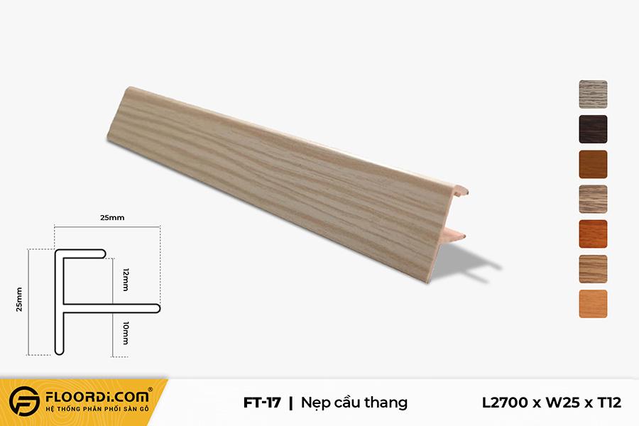 Nẹp chữ F – FT-17 – Gray Brown – 12mm