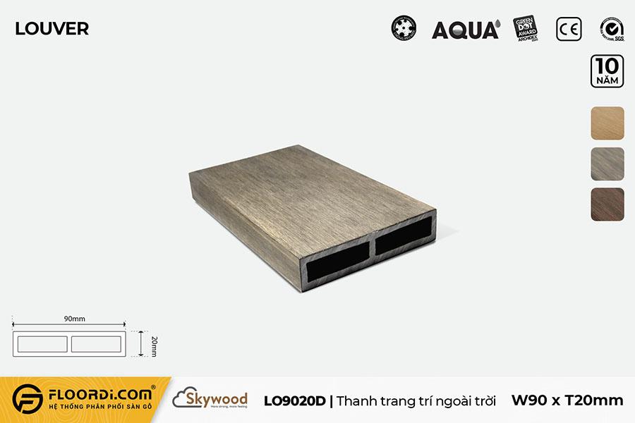 Thanh lam gỗ trang trí LO9020D – Driftwood – 20mm