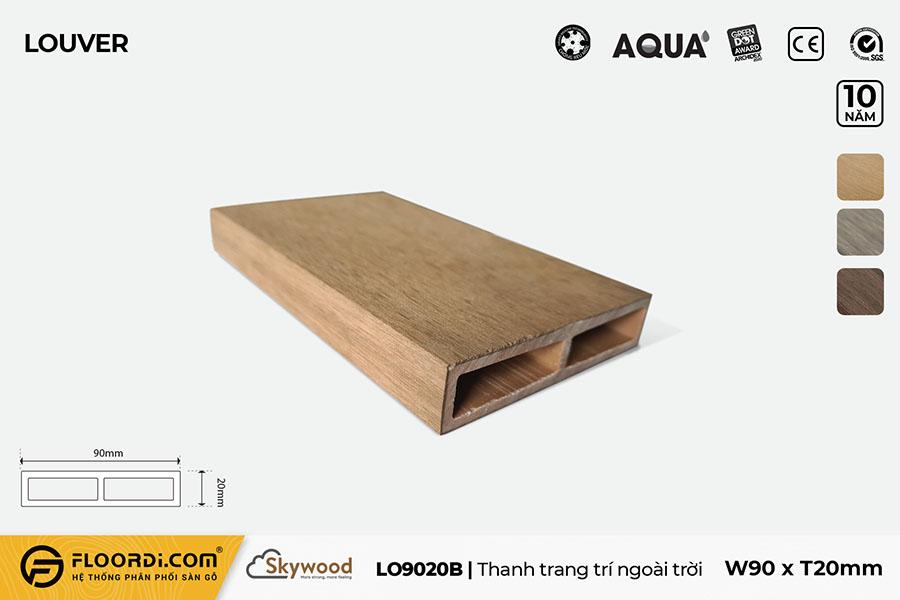 Thanh lam gỗ trang trí LO9020B – B.Teak – 20mm