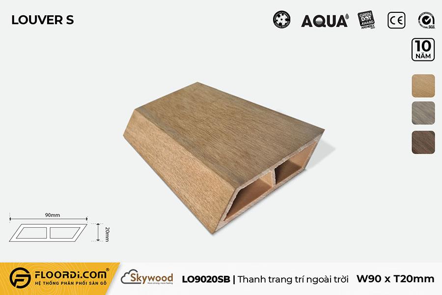 Thanh lam gỗ trang trí LO9020SB – B.Teak – 20mm