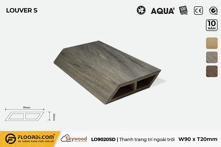 Thanh lam gỗ trang trí LO9020SD – Driftwood – 20mm