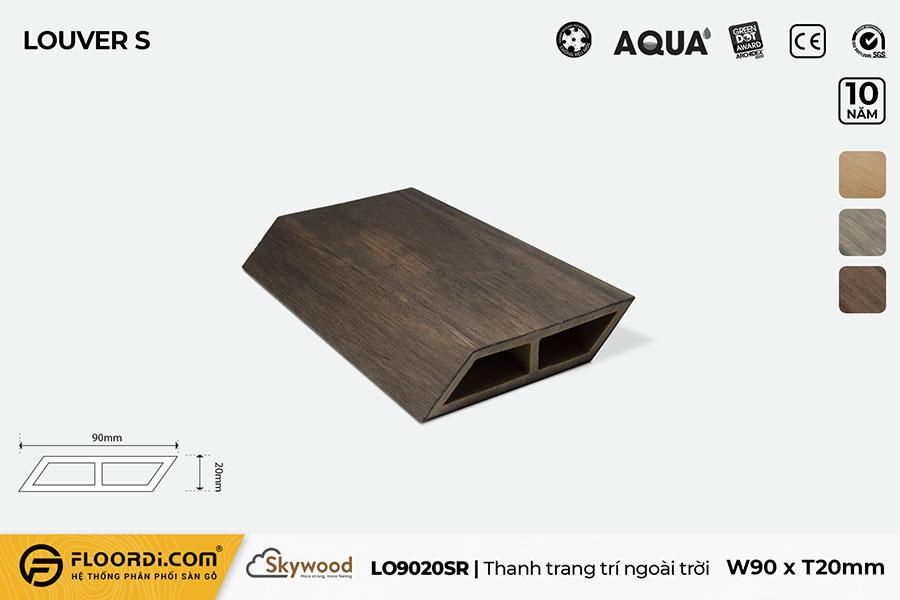 Thanh lam gỗ trang trí LO90209SR – Rosewood – 20mm