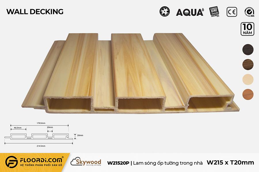 Lam Nhựa 3 Sóng – W21520P – Golden Pine – 20mm