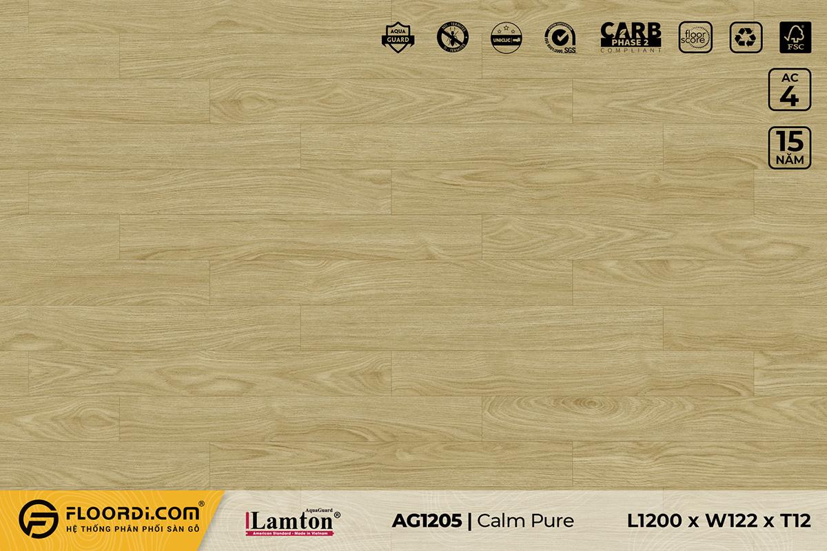 Sàn gỗ AG1205 Calm Pure – 12mm – AC4