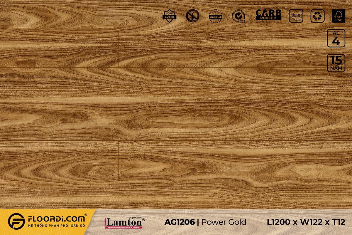 Sàn gỗ AG1206 Bronze Teak – 12mm – AC4