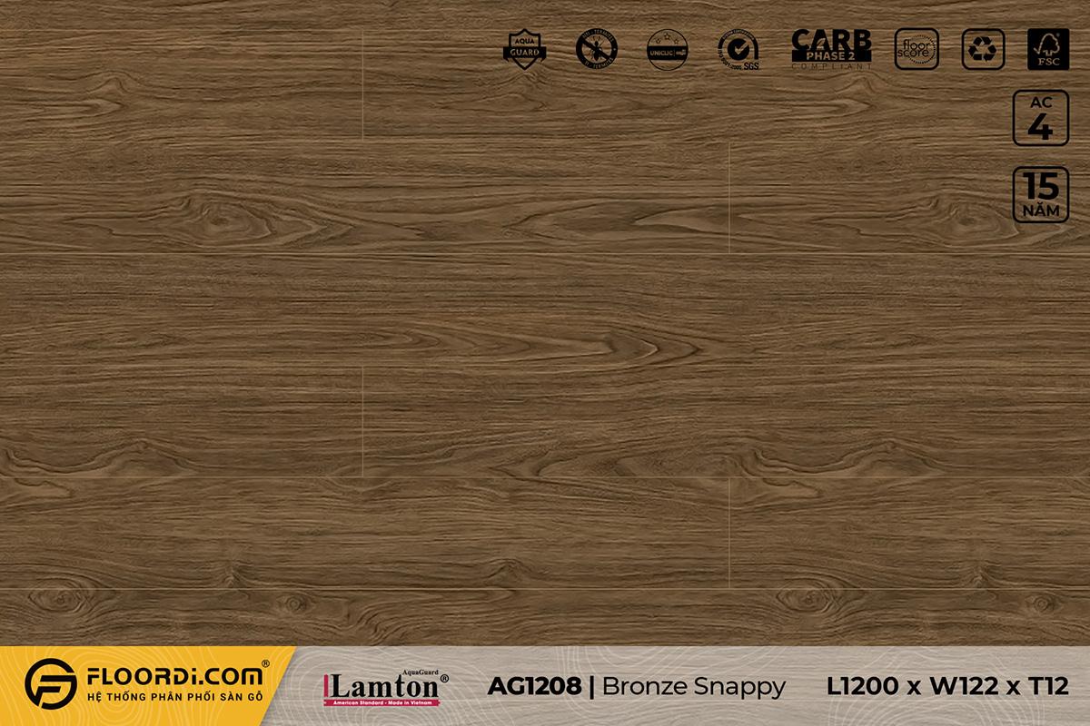Sàn gỗ AG1208 Bronze Snappy – 12mm – AC4