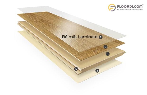Laminate thường được các nhà sản xuất dùng để phủ bề mặt sàn gỗ