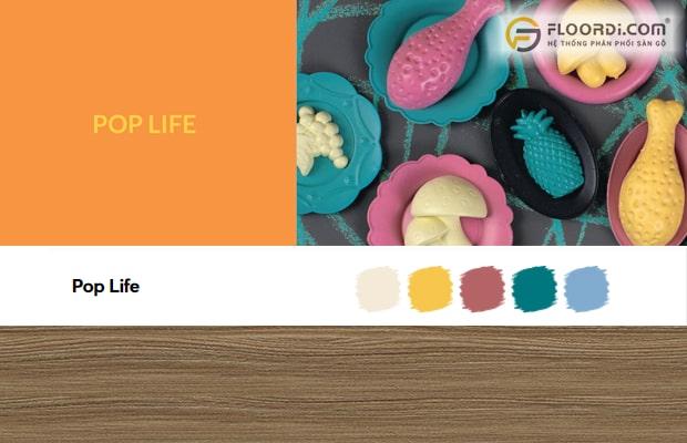 Pop Life là bảng màu thu hút những người yêu thích sự nhiệt huyết và tràn đầy năng lượng.